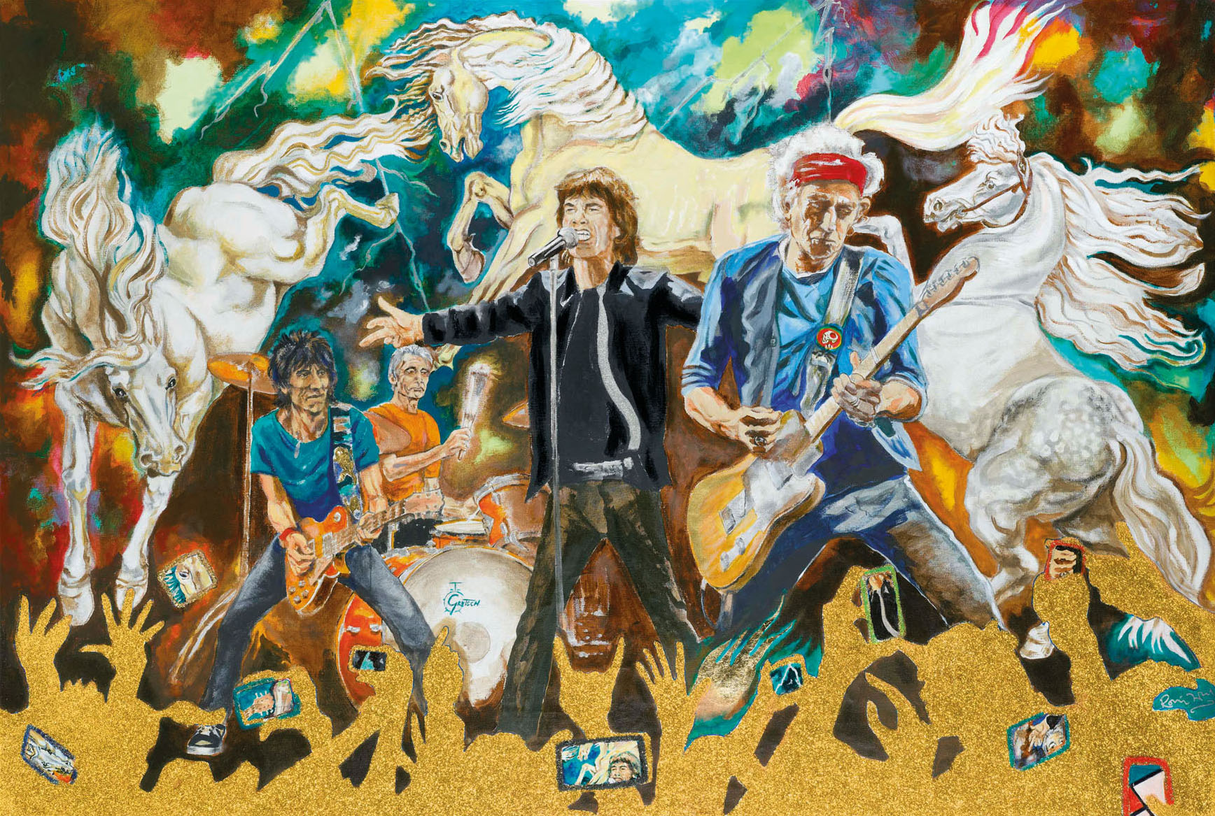 Ronnie Wood - Electric Horses - Canvas